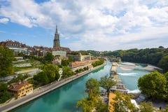 伯尔尼,瑞士全视图  库存照片