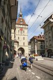 伯尔尼,瑞士的市中心 库存照片