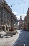 伯尔尼,瑞士的市中心 库存图片
