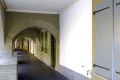 伯尔尼,瑞士著名拱廊  库存照片