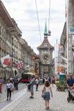 伯尔尼,瑞士街市  免版税库存照片
