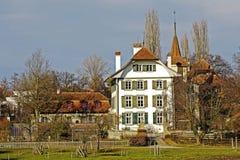 伯尔尼,瑞士, Wittigkofen宫殿 图库摄影