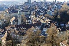 伯尔尼,老镇屋顶,瑞士 免版税库存照片