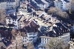 伯尔尼,老镇屋顶 库存图片