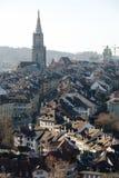 伯尔尼,老镇屋顶 图库摄影