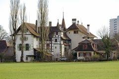 伯尔尼, Wittigkofen宫殿,瑞士 免版税库存照片