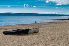 伯恩茅斯海边 免版税库存图片