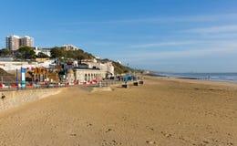 伯恩茅斯海滩多西特英国英国近对Poole 免版税库存图片