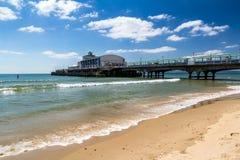 伯恩茅斯海滩多西特 免版税库存照片