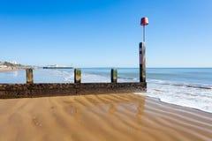 伯恩茅斯海滩多西特 图库摄影