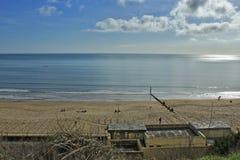 伯恩茅斯海滩 免版税图库摄影