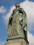 伯明翰女王/王后雕象英国维多利亚 库存图片