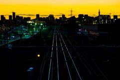伯明翰市地平线 免版税库存图片