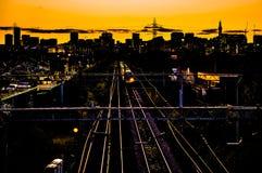 伯明翰市地平线 免版税库存照片