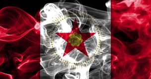 伯明翰市烟旗子,阿拉巴马状态,阿梅尔美国  库存照片