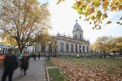 伯明翰,英国- 2016年11月6日:伯明翰大教堂外部  免版税库存照片