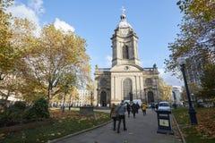 伯明翰,英国- 2016年11月6日:伯明翰大教堂外部  图库摄影