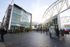 伯明翰,英国- 2016年11月6日:斗牛场购物中心的外部在伯明翰英国 免版税库存图片
