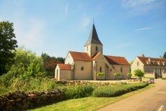 伯根地的,法国农村教会 免版税库存照片