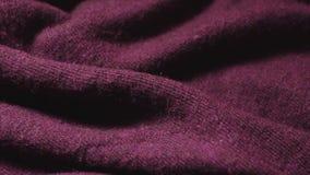 伯根地色的聚合物混合纤维的慢平底锅在的纺织品购物 影视素材