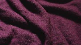伯根地色的聚合物混合纤维的纹理在的纺织品购物 股票录像