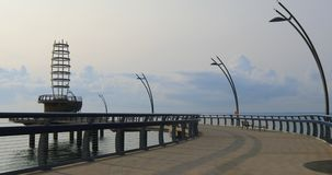 伯灵屯码头,加拿大在一多云天4K 影视素材