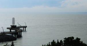 伯灵屯码头,加拿大4K鸟瞰图  影视素材