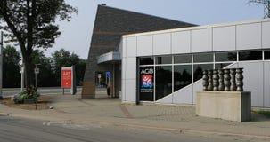 伯灵屯,安大略,加拿大4K美术画廊  股票视频