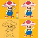 伯父蘑菇动画片 免版税图库摄影