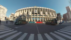 伯纳乌球场在马德里,西班牙 股票视频