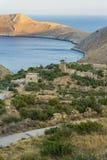 伯罗奔尼撒海岸风景 免版税库存图片