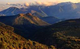 伯罗奔尼撒-希腊的山 免版税库存图片