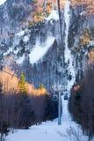 伯萨Uludag滑雪胜地在冬天 免版税图库摄影