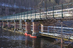 Porsnes桥梁 库存图片