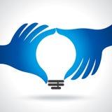 伸手可及的距离想法用人的手 向量例证