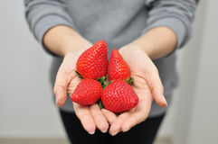 延伸草莓 库存图片
