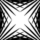 似方形的几何图表由针对性的线做成 锋利几何 向量例证