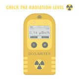 伽玛辐射个人放射性剂量仪 向量例证