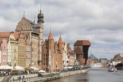 但泽,波兰- 2016年7月7日:格但斯克老市在波兰 免版税库存图片