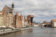 但泽,波兰- 2016年7月7日:格但斯克老市在波兰 图库摄影