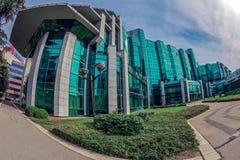 位于一个新的商业中心的办公楼合奏在是 图库摄影