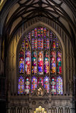 位于华尔街和百老汇的领港教会的里面, Ma 免版税库存图片