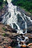 Balea小瀑布在Carpathians 库存照片