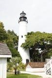 位于基韦斯特岛的历史的基韦斯特岛灯塔,佛罗里达 库存图片