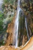 位于山脉的Chorrogil瀑布de las Villas 图库摄影