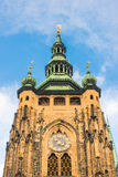 位于布拉格的St. Vitus大教堂,捷克语在布拉格城堡 库存照片
