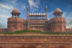 位于新德里的德里红堡,印度 库存图片