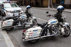 NYPD摩托车 免版税库存图片