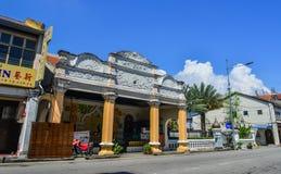 位于槟榔岛的老大厦,马来西亚 免版税图库摄影