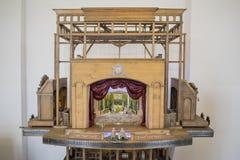 位于涅斯维日白俄罗斯镇的16世纪的一个微型剧院在城堡博物馆被射击了2018年6月30日 库存照片
